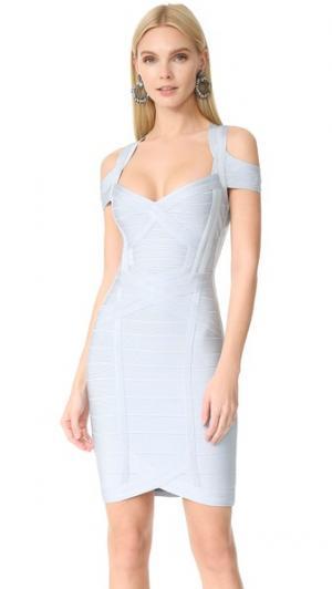 Платье Katlin Herve Leger. Цвет: голубой