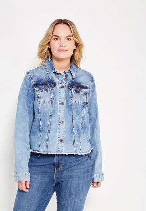 Куртка джинсовая Fiorella Rubino. Цвет: синий