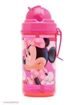 Фляга с соломинкой и держателем Минни Маус Stor. Цвет: фуксия, розовый