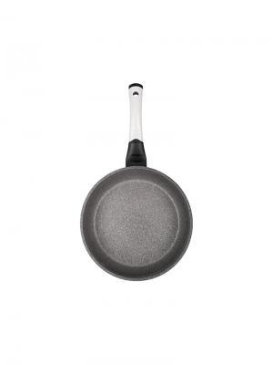 Сковорода Oursson с мраморным покрытием ROCK. Цвет: молочный
