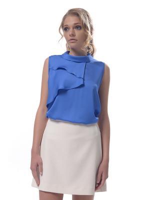 Блузка- боди Arefeva. Цвет: голубой