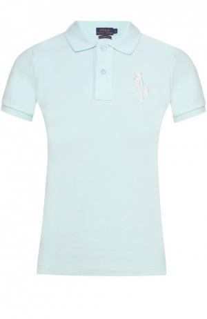 Поло с вышитым логотипом бренда Polo Ralph Lauren. Цвет: светло-зеленый