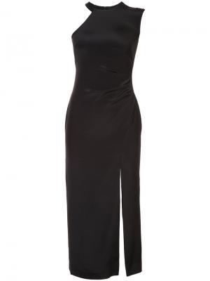One shoulder dress Nicole Miller. Цвет: чёрный