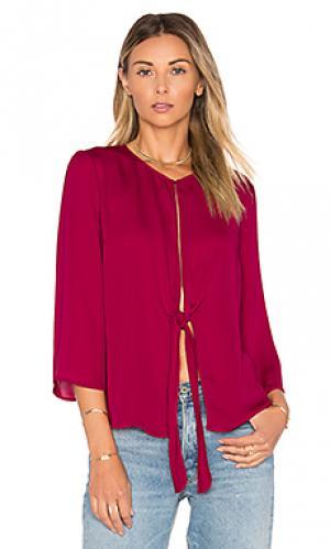 Блуза с завязкой на узел LAcademie L'Academie. Цвет: вишня
