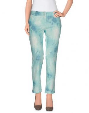 Повседневные брюки JEU POITRINE. Цвет: бирюзовый