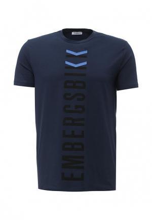 Футболка Bikkembergs. Цвет: синий
