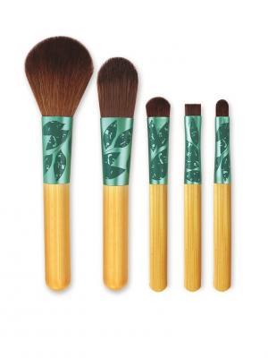 Ecotools Набор кистей для макияжа лица Lovely Looks - Multilingual. Цвет: золотистый, коричневый, лазурный