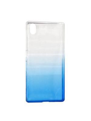 Крышка задняя для Sony Xperia Z5 Силикон IQ Format. Цвет: синий
