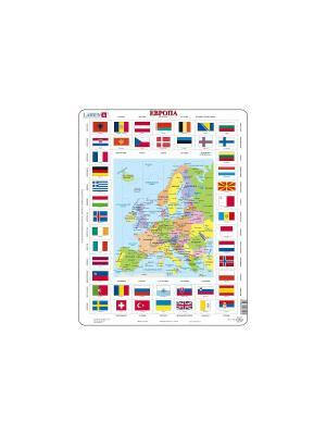 Пазл Карты/флаги - Европа LARSEN AS. Цвет: белый, голубой, желтый, зеленый, оранжевый, синий