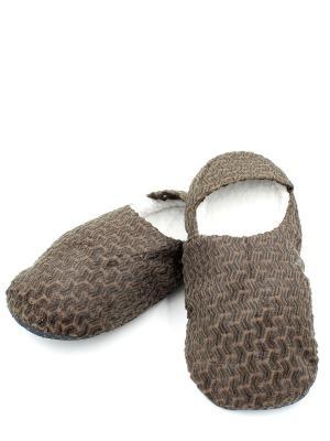 Носки-тапочки HOBBY LINE. Цвет: коричневый