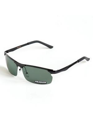Солнцезащитные очки Selena. Цвет: черный, зеленый