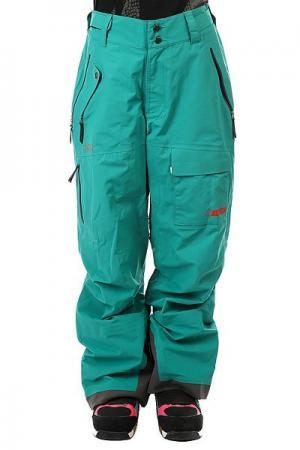 Штаны сноубордические женские  Gear Chariot Bib Emerald Trew. Цвет: зеленый