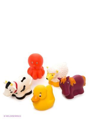 Игрушка для ванны Животные на ферме Battat. Цвет: белый, красный, желтый, коричневый