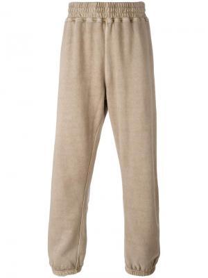 Спортивные брюки с эластичным поясом Yeezy. Цвет: зелёный