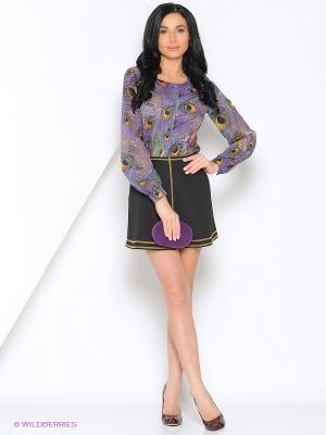 Блузка SEVONA. Цвет: фиолетовый