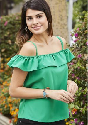 Блузка MY STYLE. Цвет: зеленый