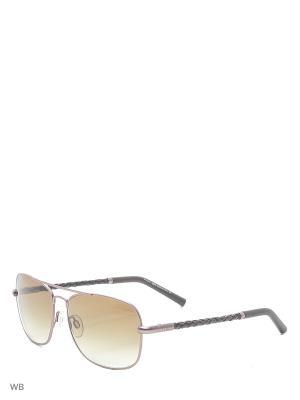 Солнцезащитные очки TO 0066 11P Tod's. Цвет: серебристый, серый