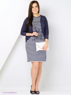 Комплект одежды Amelia Lux. Цвет: белый, синий