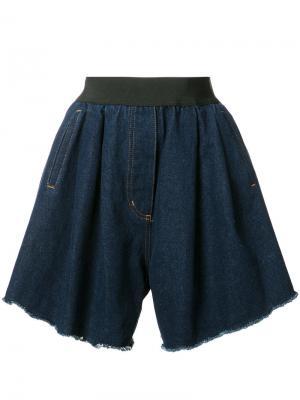 Джинсовые шорты Natasha Zinko. Цвет: синий