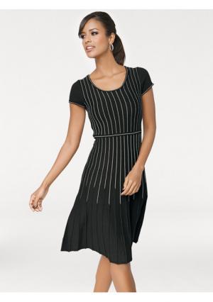 Платье PATRIZIA DINI. Цвет: черный/серо-коричневый