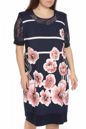 Платье Michelle. Цвет: темно-синий