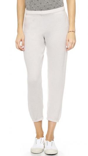 Укороченные спортивные брюки Nate Bop Basics. Цвет: белый