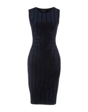 Платье до колена ANTONINO VALENTI. Цвет: темно-синий