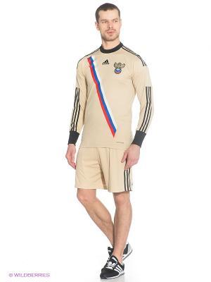 Шорты Adidas. Цвет: бежевый, черный