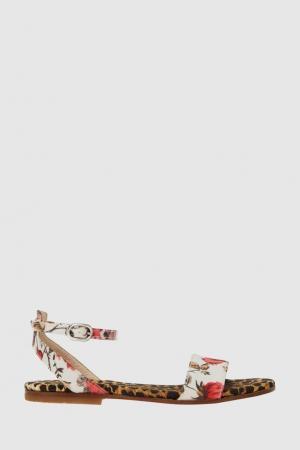 Сандалии Dolce&Gabbana Children. Цвет: леопардовый принт, белый, розовый