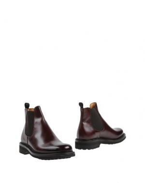 Полусапоги и высокие ботинки BARRACUDA. Цвет: баклажанный