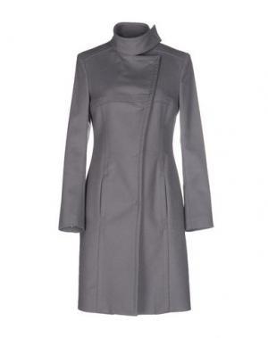 Пальто DIVINA. Цвет: серый