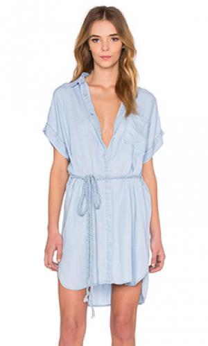 Платье на пуговицах savannah Rails. Цвет: none