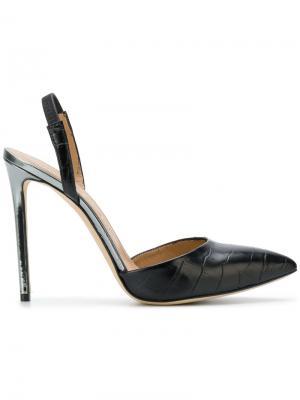 Туфли с эффектом крокодиловой кожи Marc Ellis. Цвет: чёрный