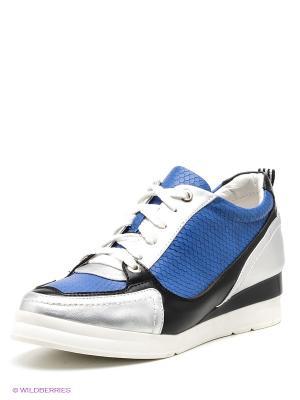 Ботинки Daze. Цвет: синий, серебристый, черный