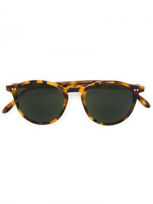 Солнцезащитные очки с круглой оправой Pantos Paris. Цвет: коричневый