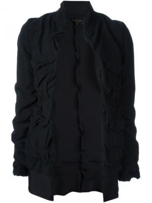 Пиджак с присборенной отделкой Comme Des Garçons Vintage. Цвет: чёрный