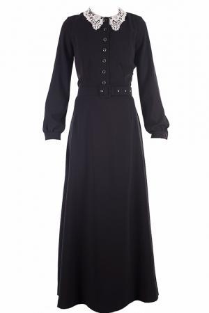 Строгое платье с воротником VIA TORRIANI 88. Цвет: черный