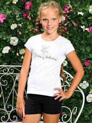Футболка Arina Ballerina. Цвет: белый
