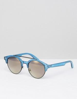 AJ Morgan Солнцезащитные очки в стиле ретро. Цвет: синий