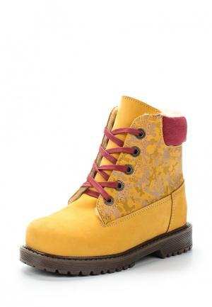 Ботинки Котофей. Цвет: оранжевый