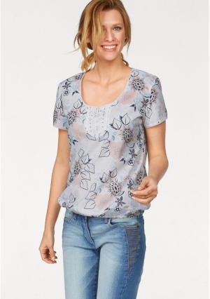 Блузка CHEER. Цвет: белый/пастельный с рисунком