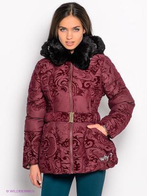 Куртка Desigual. Цвет: бордовый