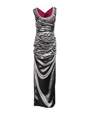 Длинное платье IVAN MONTESI. Цвет: серый