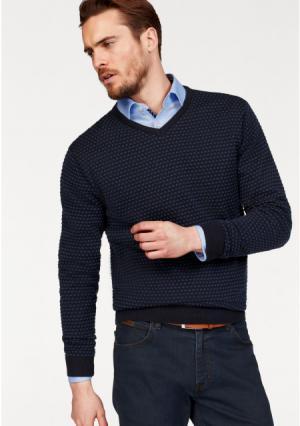 Пуловер Class International. Цвет: темно-синий с рисунком