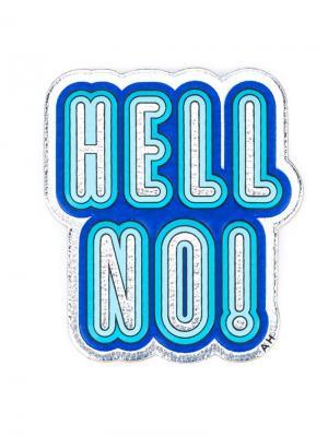 Стикер Hello No! Anya Hindmarch. Цвет: металлический