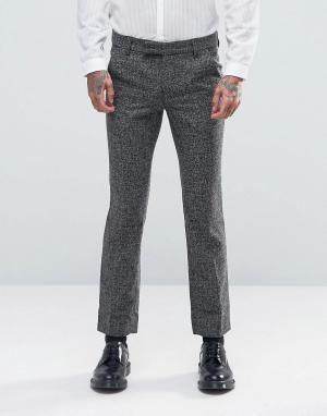 Rogues of London Строгие брюки скинни. Цвет: серый