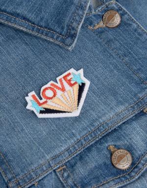 Orelia Нашивка с вышивкой One Love. Цвет: мульти