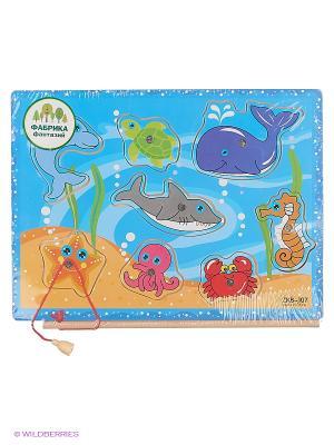 Деревянная игрушка Рыбки Фабрика Фантазий. Цвет: голубой