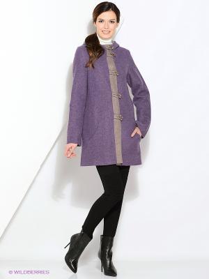Пальто Gamelia. Цвет: фиолетовый