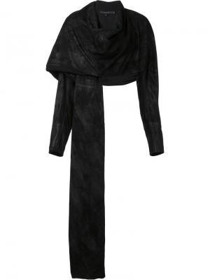 Драпированный асимметричный пиджак Urban Zen. Цвет: чёрный